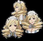 Horn's Anime face production art