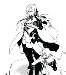 Ferid and Mika watching the battlefield
