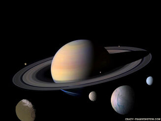 Saturn and her moons