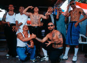 Honduran members of the 18th Street gang. 18 comes from a street in the Latino section of Los Angeles, California.