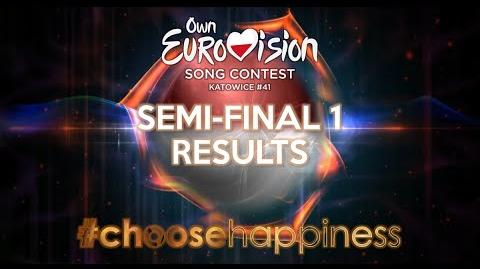 Own Eurovision Song Contest 41, Semi-final 1 Results