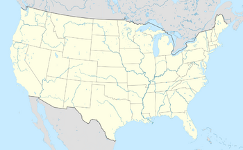 USA location map