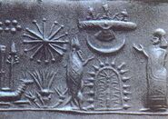 Mesopotamian cylinder seal impression