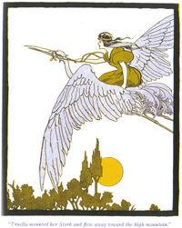 Princess Truella on a stork - Project Gutenberg eText 16529
