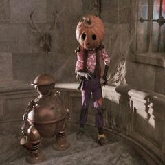 Jack Pimpkinhead with Tik-Tok in <i>Return to Oz</i>, 1985.