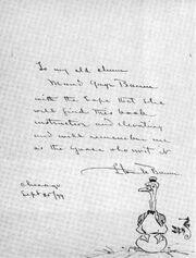 Maud Gage Baum's copy of Father Goose 1899