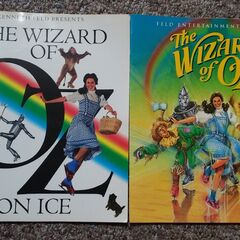 <b>Rare White Variant Program On The Left / Official Release Green Program On The Right From The Wizard of Oz On Ice</b>