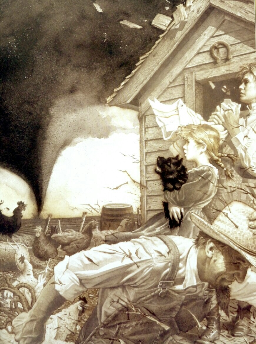 The Cyclone Hits Henrys Kansas Farm Illustration By Charles Santore