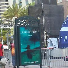 Teaser poster outside of Comic-Con 2014