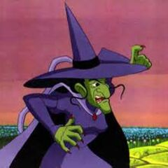 The wicked Witch as she appears in The Wizard of Oz (TV series) voiced by  Tress MacNeille