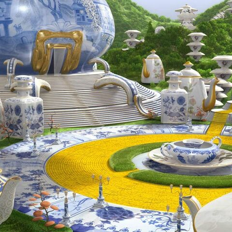The interior of China Country palace in Legends of Oz World