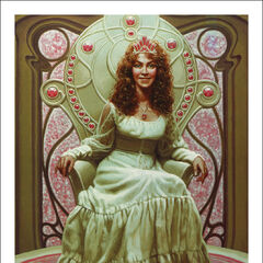 Glinda on her throne of rubies.