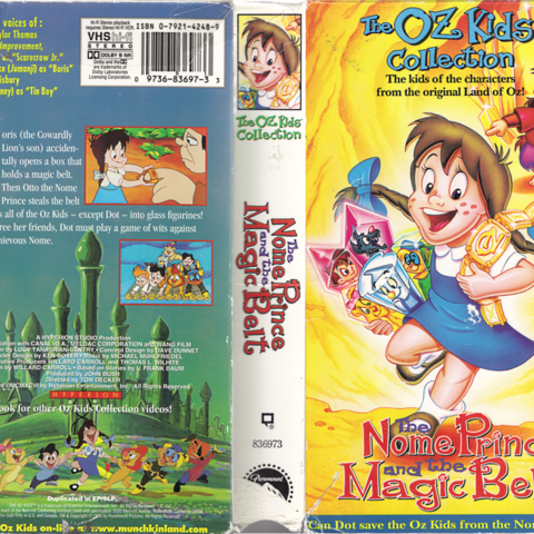 The Nome Prince and the Magic Belt VHS cover