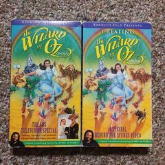 <b>VHS Tapes Of The Wizard of Oz On Ice Television Broadcast / Creating The Wizard of Oz On Ice</b>