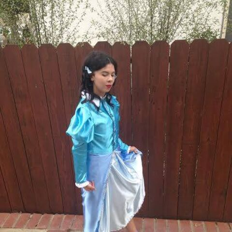 Madisyn Wright as Dorothy Gale at the 2014 Comikaze Expo in her 'Emerald City Costume'