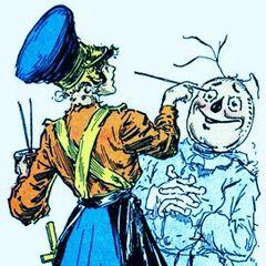 Jinjur repaints Scarecrow.