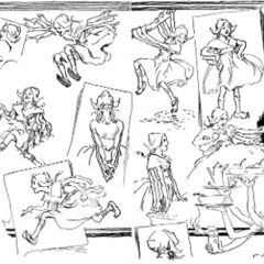 Sketches by John R. Neill