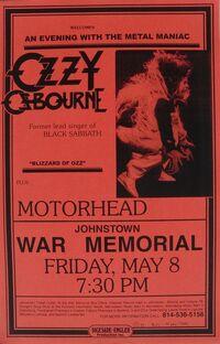 Blizzard Tour Poster