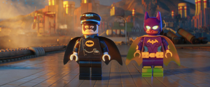 Batgirl and alfred seeing batman
