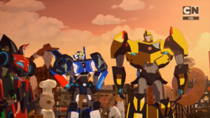 Bumblebee, Strongarm and Sideswipe (Freedom Fighters)