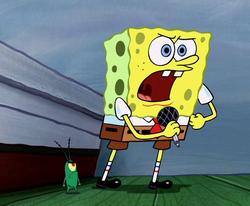 SpongeBob's noble speech
