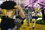 Edward, Alphonse and Winry at the school