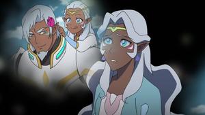Alfor's memories Allura puts Flower in Hair
