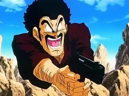 DBZ Mr. Satan with Gun
