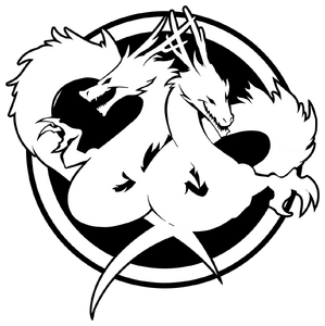 Double dragon neon logo symbol by reoer-d6epdxx
