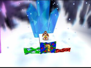 Banjo-Kazooie banjo in 1st place in freezeezy peak