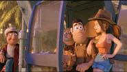 Sara borrows Tad's hat as they head home
