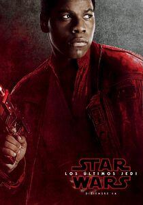 The Last Jedi Spanish Finn Character Poster