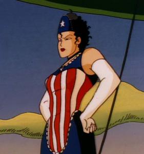 Americanmaidposing