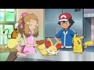 Serena's Brushing with Ash and Bonnie