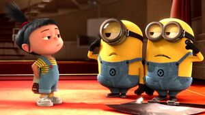 Agnes and two minions