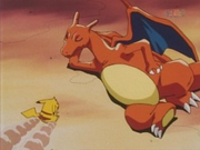 Ash Charizard disobedience pokemon anime cartoon