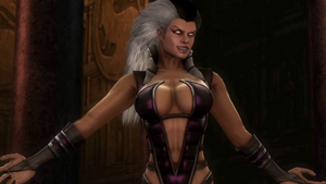 Sindel ready to finish off Earthrealm warriors