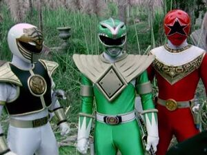 White Ranger, Green Ranger and Red Ranger