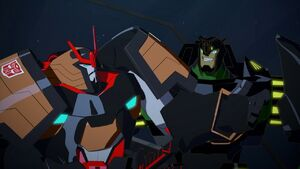 Grimlock and Drift's journey to Cybertron