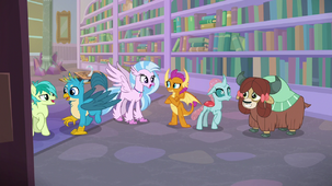 Young Six back in the library S8E22