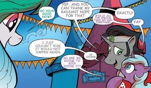 1045484 safe artist-colon-andypriceart edit king+sombra princess+celestia radiant+hope comic female hopebra idw implied+sex male reformed+sombra shipp