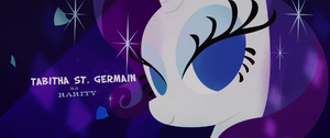 Glamour shot of Rarity in the credits MLPTM