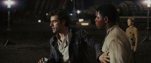 Poe and Finn Crait