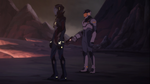 Shiro and Acxa are trying to save Keith