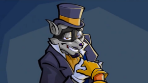 Sly Cooper's gentleman disguise