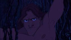 Tarzan overpowering Clayton