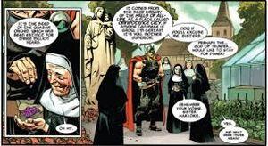 Thor with nuns
