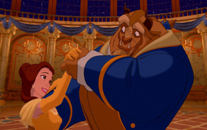 Belle and the Beast in love