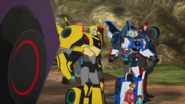 Bumblebee, Strongarm, Sodeswipe, Russell and Denny (Something He Ate)