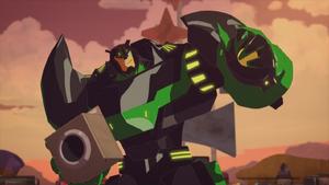 Grimlock in the Scrapyard (Freedom Fighters)